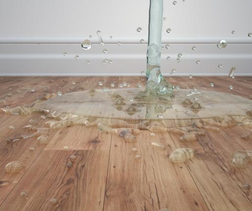 تسرب المياه من سقف الحمام
